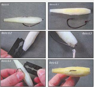 Поролоновая рыбка на офсетном крючке